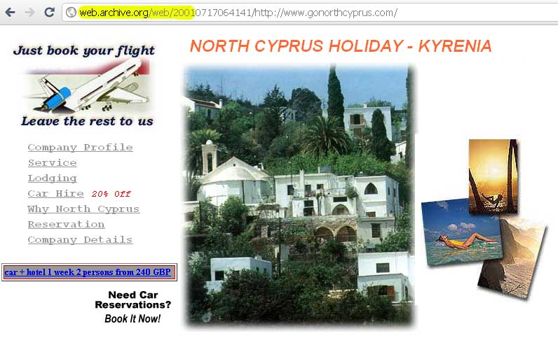 Go North Cyprus in 2001